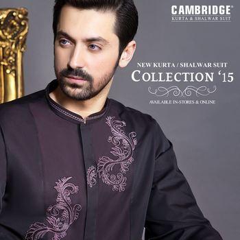 NEW CAMBRIDGE KURTA / SHALWAR SUITE COLLECION '15 FOR MEN