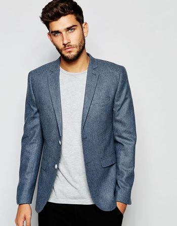 New Look Blazer in Blue at asos.com