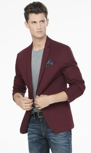 Burgundy Twill Photographer Jacket from EXPRESS
