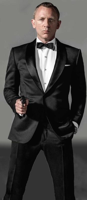 Daniel Craig (as James Bond 007) always