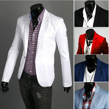 2015 New Arrival Fashion Clothing Wild Single Button terno Blazer Jacket Men's Casual Slim Fit Suit blazer masculino M-3XL - Unifiworld