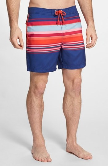 Original Penguin Stripe Volley Swim Trunks