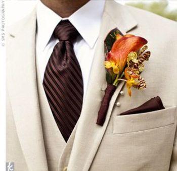 Khaki, Brown & Orange tux