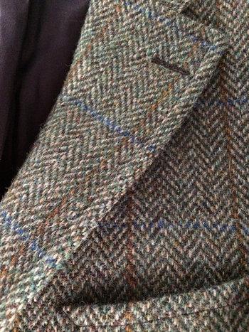 J Press Harris Tweed Jacket Coat Blazer 40 S Short - Trad Prep Classic