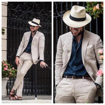 """Articles of Style on Instagram: """"It's a linen suit and sandals kind of day. #Menswear #Tailoring #Summer #ArticlesofStyle"""""""