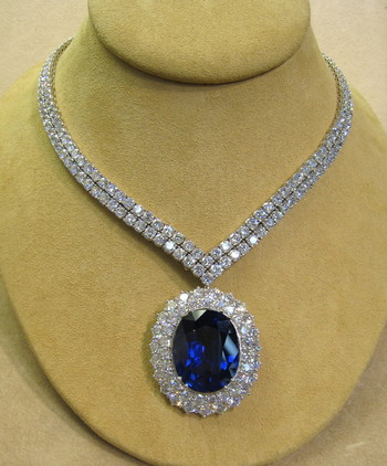 Moissanite Jewelers - Moissanite And Diamond Necklace