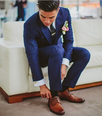 Well-Groomed Q&A: Navy Tuxedo with Brown Shoes?