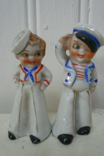 little sailor boys vintage salt & pepper set