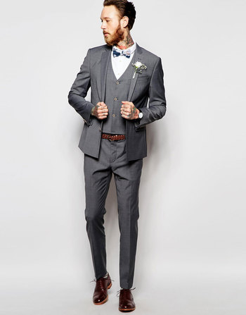 ASOS Wedding Skinny Suit in Grey Tonic at asos.com