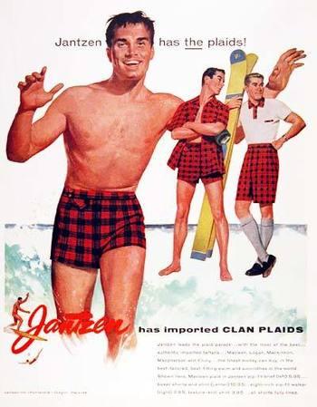 1955 Jantzen Men's Swimsuits Classic Vintage Print Ad