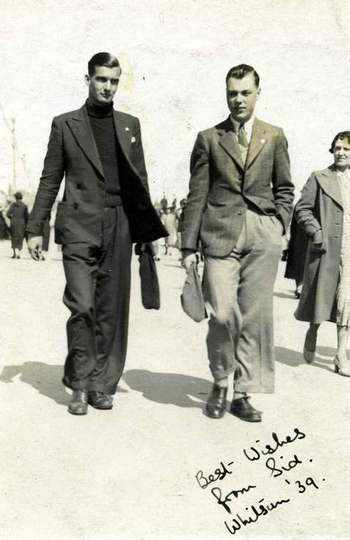 Vintage men, they were so put together back then, now adays dudes put their jeans to their knees
