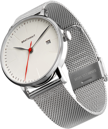 The automatic minimalist wrist watch: Mesh strap