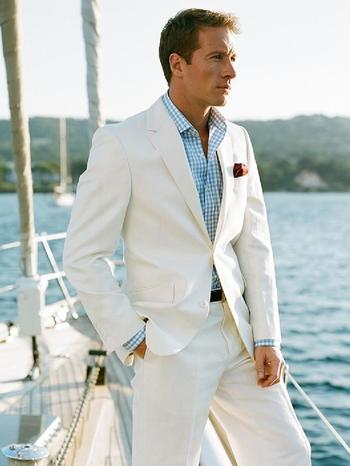 Summer Casual Linen Men Suits Ivory Mens Wedding Suits Notch Lapel Tuxedos Two Button Suits For Wedding Groom Two Piece Suit Jacket+Pants Best Mens Suits Dinner Jackets From Anniesbridal, $136.13  Dhgate.Com