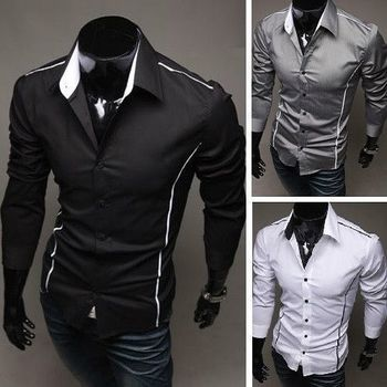 Slim Fit Long Sleeve Dress Shirts