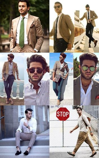 Casual Mens Suits Collages