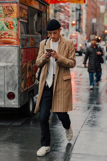 Street looks à la Fashion Week homme de New York
