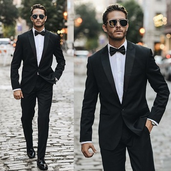 Smooth Men's black tuxedo brought to you by Tom Maslanka
