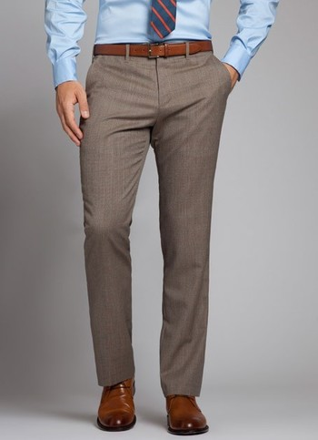 The perfect mid gray mens dress pant