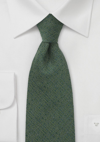 Forest green wool blend tie $15
