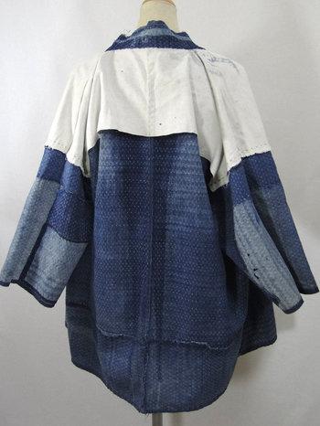 Antique Boro Peasant Jacket. Japanese Indigo Noragi.