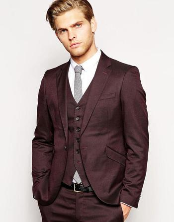 New Arrivals One Button Dark Red Groom Tuxedos Notch Lapel Groomsmen Best Man Wedding Prom Suits Jacket+Pants+Vest+Tie Black Dinner Jacket Black Mens Suit From Sushiyiyuan, $84.82  Dhgate.Com