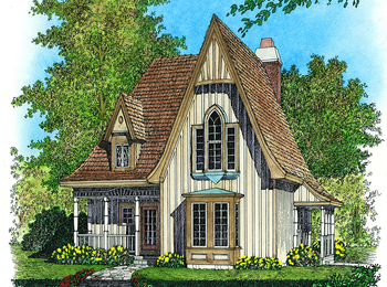 Plan 43002PF: Charming Gothic Revival Cottage