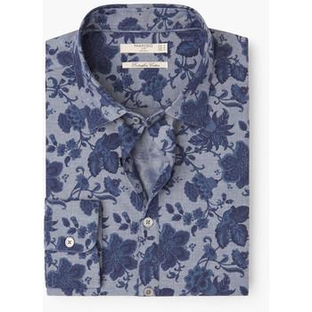 MANGO MAN MANGO MAN Slim-Fit Floral Print Shirt