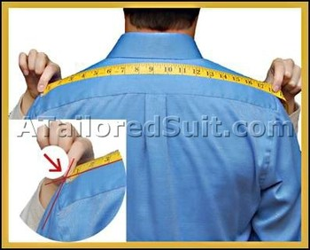 How to measure for men's suit. Printable chart and measuring tape. Good illustrations and description