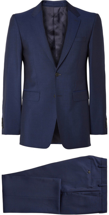 MR PORTER - Burberry London Navy Slim-Fit Wool and Mohair-Blend Suit