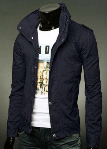 New Mens Slim Fit Casual Zipper Button Top Design Military Jackets Rider Coats