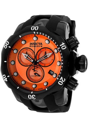 Invicta Men's Venom/Reserve Chronograph Black Rubber - Watch 5735, #Invicta, #5735, #WatchesChronogra