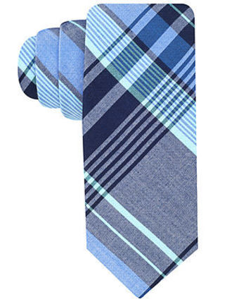 Ben Sherman Tie, Madras Plaid - Ties - Men - Macy's