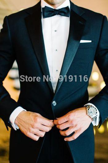 Aliexpress.com : Buy 2015 Notch Lapel Groom Wedding Tuxedos/wedding Suits for men /Bestman's Tuxedo(jacket+Pants+Bowtie+Pocketsquare) from Reliable suit blazer suppliers on Bespoke Tuxedo-Suzhou Itilor Wedding Ltd  | Alibaba Group