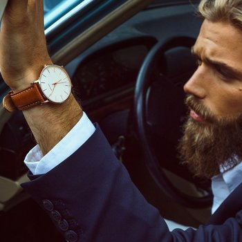 The Classic Slim Wristwatch Italian Calf Leather Strap - $185