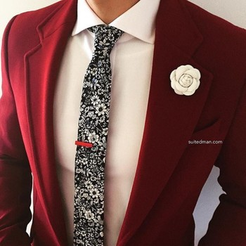 "Gentlemen Be Like on Instagram: ""Loving the accessories and stylings from @Suited_Man including their wide selection of floral ties and lapel pins. Get them now at…"""