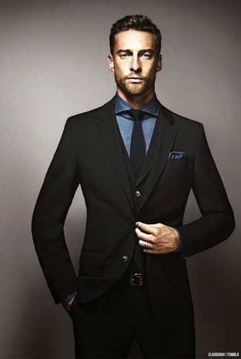 any ideas for black suits with a stylish twist?