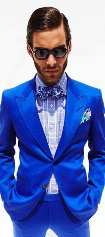 Tom Ford. strong bold blue.