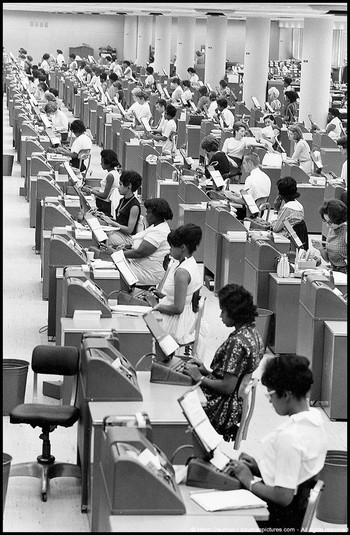 Social Security office, Baltimore, 1965
