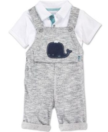 First Impressions Baby Boys' 2-Piece Whale Shortall & Polo Shirt Set, Only at Macy's - First Impressions - Kids & Baby - Macy's