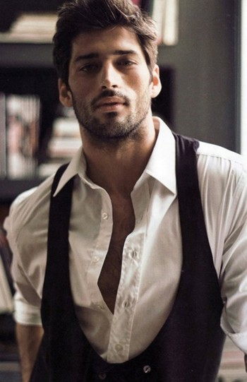 Groom  Clothing Ideas ♥ Dark Haired Bearded Handsome Men #1120313