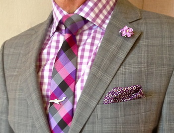 Nautica suit, Jones New York shirt, Ben Sherman tie - Tumblr