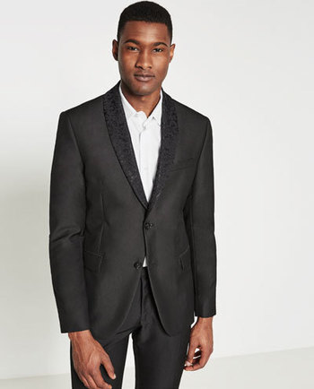 BLACK SUIT BLAZER - BLAZERS-MAN