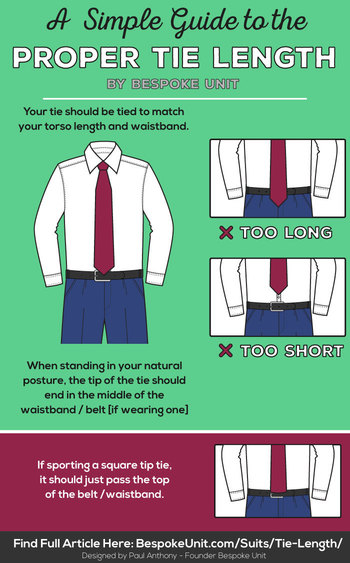 Tie Length Guide | Learn Proper Placement To Get The Correct Look