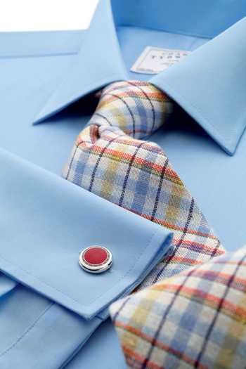 Our Summer check tie was handmade on