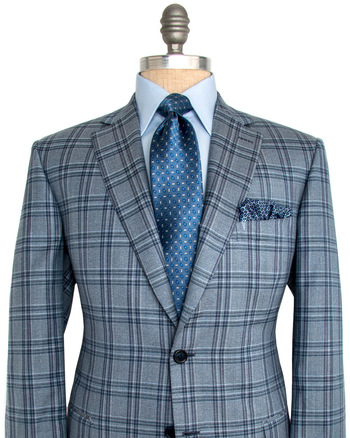 Grey with Blue Plaid Sportcoat