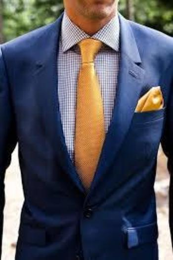 Bright blue suits are more stylish and