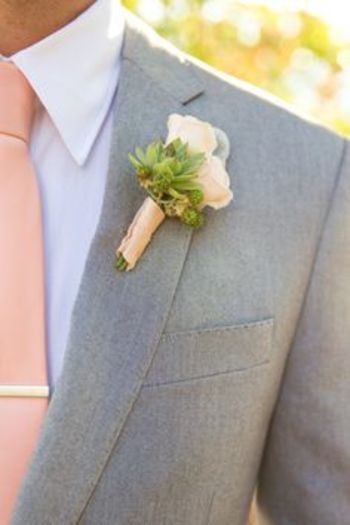 grey and peach groomsmen suits - Google Search