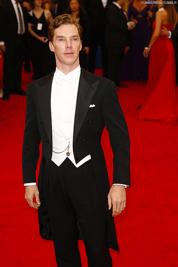 Just wow. Benedict Cumberbatch successfully evoking that of old Hollywood. Met Gala 2014