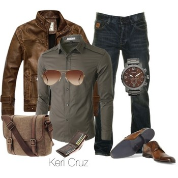 Rugged Men's Fashion; trade the shoes out for boots and this outfit is good to go! (Check out my styl