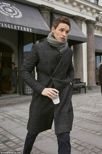Eddie Redmayne cuts a dapper figure in Copenhagen
